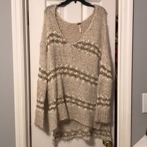 over sized cozy free people sweater